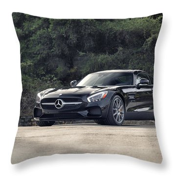 #mercedes #amg #gts Throw Pillow