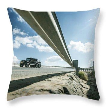 Mercedes G63 6x6 In Oman Throw Pillow