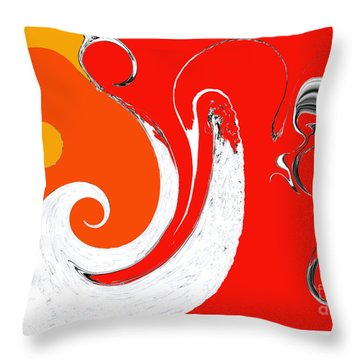 Liquid Wonders Throw Pillow