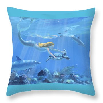 Mermaid Fantasy Throw Pillow