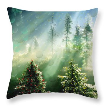 Merry Christmas Throw Pillow by Angela A Stanton