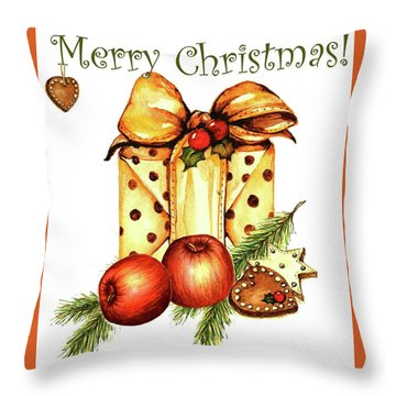Merry Christmas Throw Pillow by Heidi Kriel