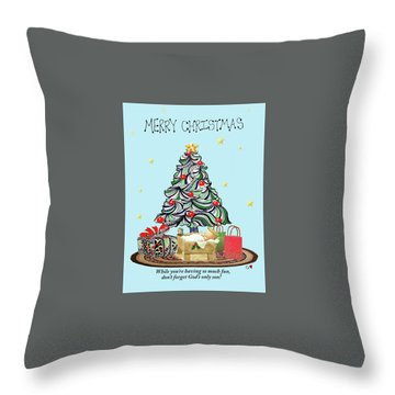 Merry Christmas Throw Pillow by Quwatha Valentine