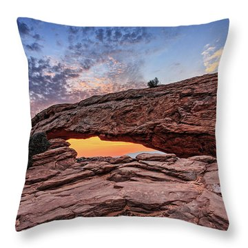 Mesa Arch At Sunrise Throw Pillow