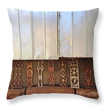 Metal And Ironwork  Throw Pillow