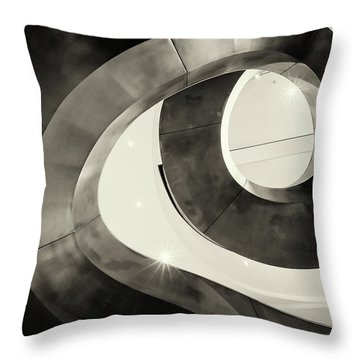 Abstract Metal Spiral Staircase Throw Pillow