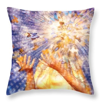 Metamorphosis Throw Pillow by Robby Donaghey