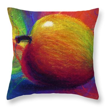 Metaphysical Apple Throw Pillow by Kd Neeley