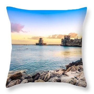 Methoni's Castle / Greece. Throw Pillow