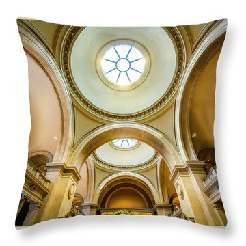 Throw Pillow featuring the photograph Metropolitan Museum Of New York by Marvin Spates