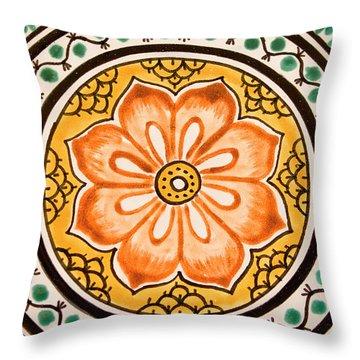 Mexican Tile Detail Throw Pillow