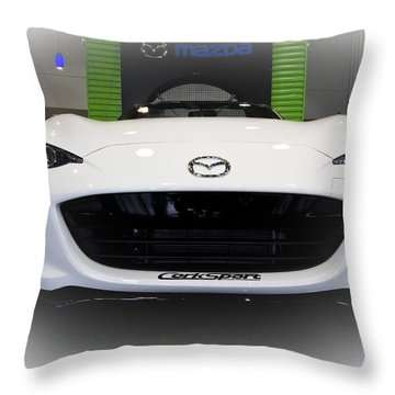 Miata Signed Throw Pillow
