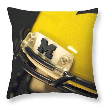 Michigan M Throw Pillow