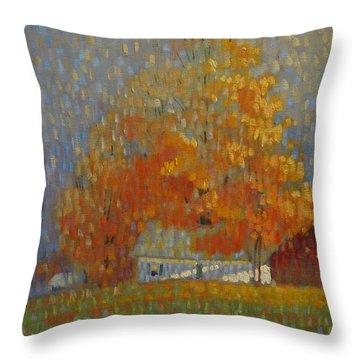 Middle Farm Foliage Throw Pillow