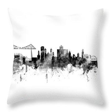 Middlesbrough England Skyline Throw Pillow