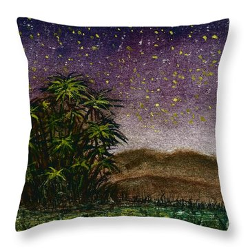 Midnight At The Oasis Throw Pillow