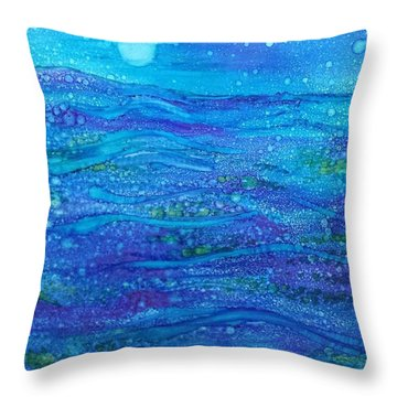 Midnight Swim Throw Pillow