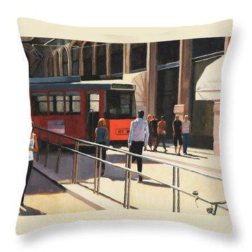 Milan Trolley Throw Pillow