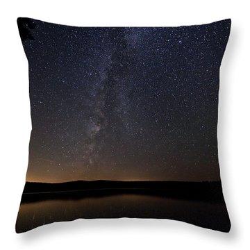 Milky Way Chocorua Lake Throw Pillow