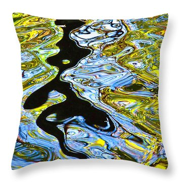 Throw Pillow featuring the photograph Mill Pond Reflection by Tom Cameron