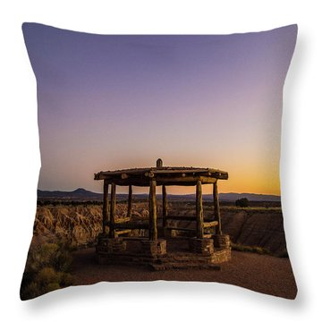 Cathedral Gorge Gazebo Throw Pillow