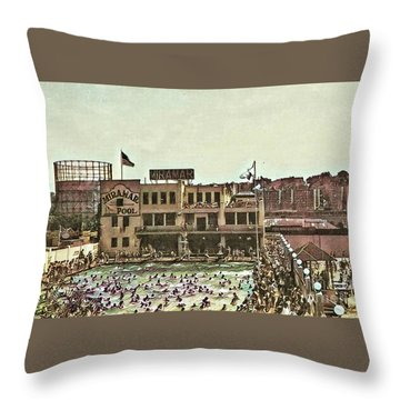 Miramar Saltwater Pool  Throw Pillow