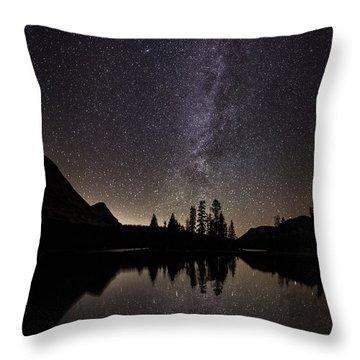 Mirror Lake Milky Way Throw Pillow