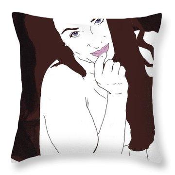 Mischevious Throw Pillow