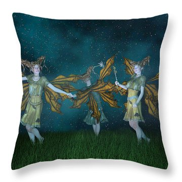 Mischief  Throw Pillow by Betsy Knapp