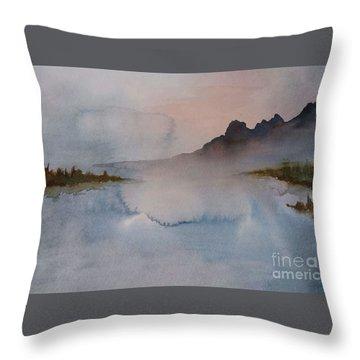 Mist Throw Pillow by Annemeet Hasidi- van der Leij