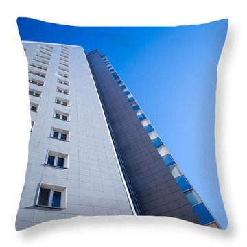 Throw Pillow featuring the photograph Modern Apartment Block by John Williams