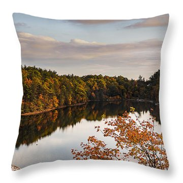 Mohonk Mountain House Lake Throw Pillow