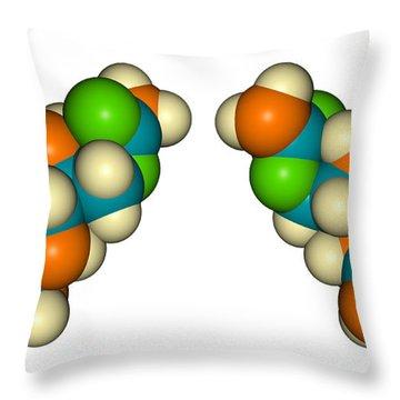 Molecular Model Saxitoxin Throw Pillow
