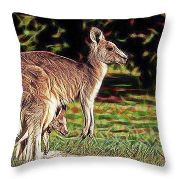 Mom And Child Throw Pillow