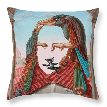 Mona Lisa. Air Throw Pillow