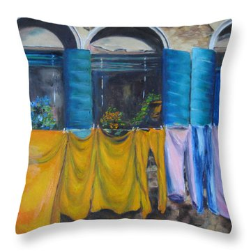 Monday In Venice Throw Pillow by Lisa Boyd