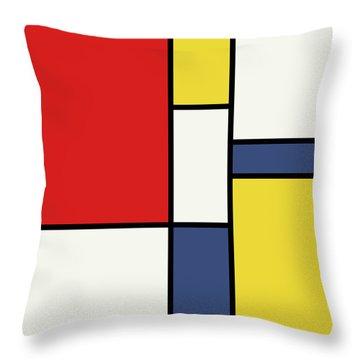 Mondrian Inspired Throw Pillow