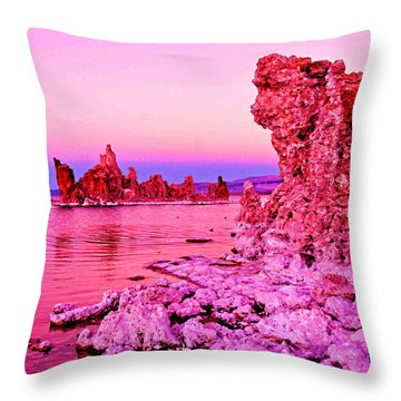 Mono Lake Dawn Throw Pillow by Dennis Cox