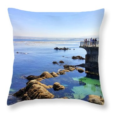 Montery Bay Throw Pillow
