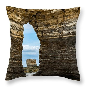 Monument Rocks Throw Pillow