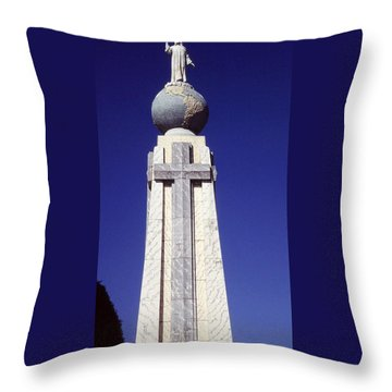Monumento Al Divino Salvador Del Mundo Throw Pillow by Juergen Weiss