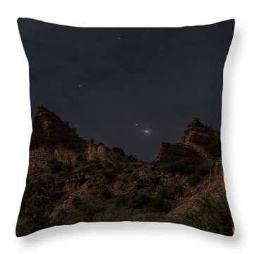 Moonlit Canyon Throw Pillow