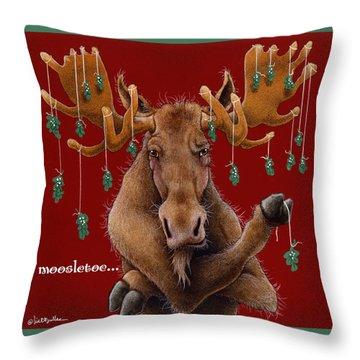 Moosletoe... Throw Pillow