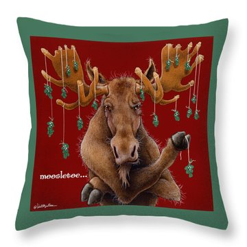 Moosletoe... Throw Pillow