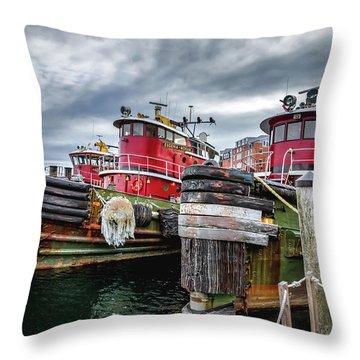 Moran Towing Tugboats Throw Pillow