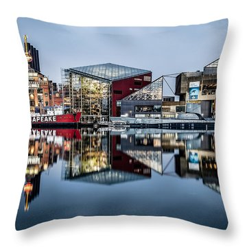 More Baltimore Throw Pillow