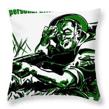 More Production -- Ww2 Propaganda Throw Pillow