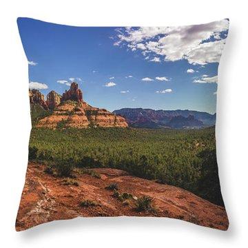 Mormon Canyon Panorama Throw Pillow