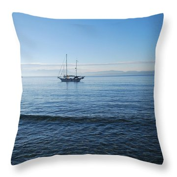 Morning Clouds Throw Pillow by George Katechis