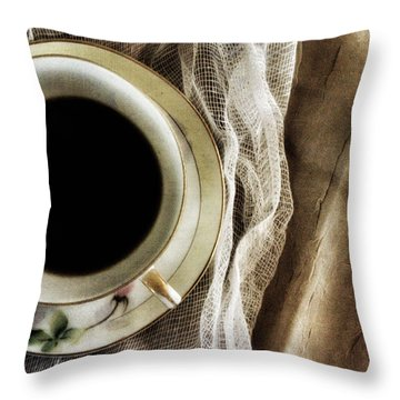 Throw Pillow featuring the photograph Morning Coffee by Bonnie Bruno